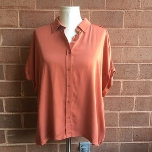 💛 Forever 21 Dusty Orange Short Sleeve Dolman Top